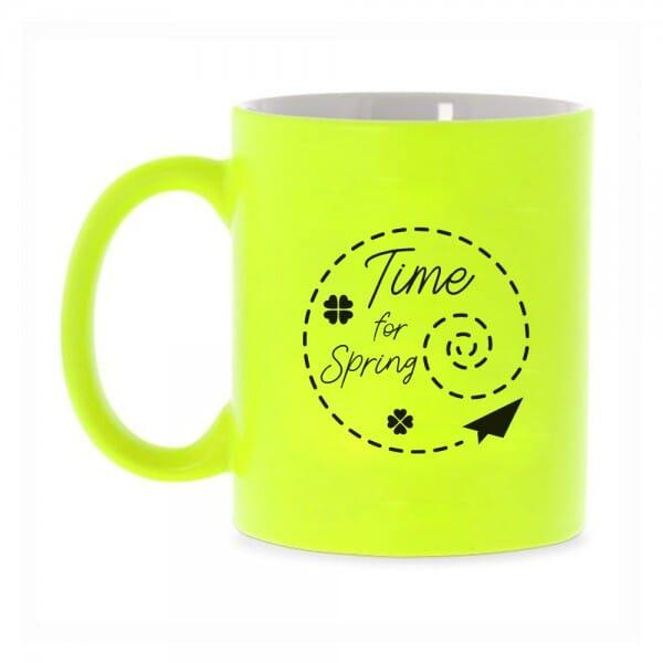 "Neon Tasse mit Motiv ""Time for Spring"""