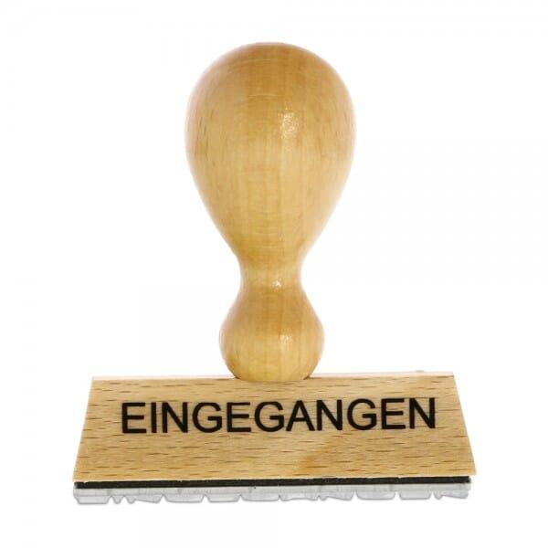 Holzstempel EINGEGANGEN (60x10 mm - 1 Zeile)