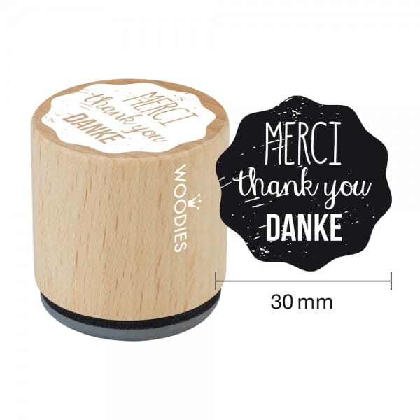 Woodies Stempel - Merci thank you Danke bei Stempel-Fabrik