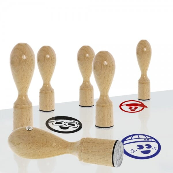 AKTION - Holzstempel - Set Boys (Ø 20 mm)