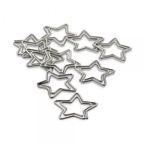 NIO Klammern Stern silber (10 Stück)