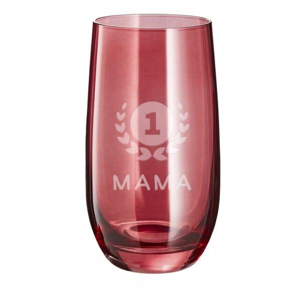 "Lasergraviertes Glas groß ""Mama number one"" - Leonardo®"