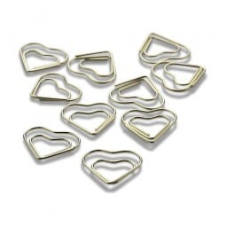 NIO Klammern Herz gold (10 Stück)