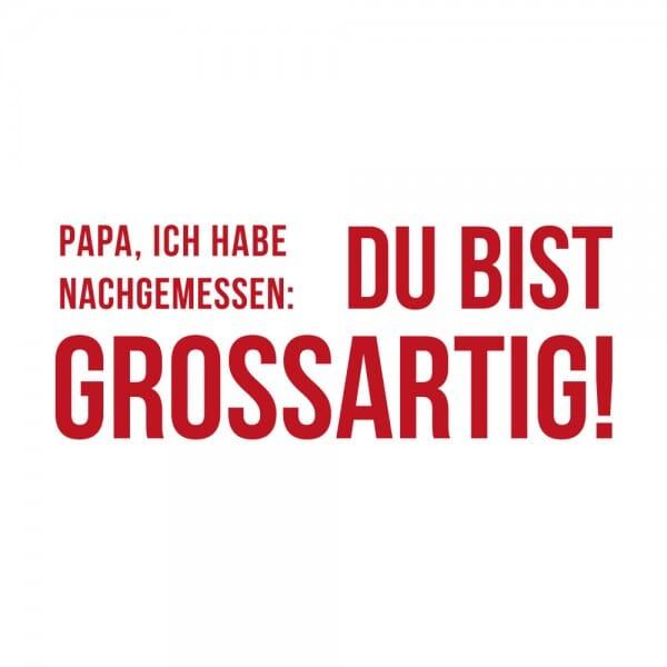 Vatertag Holzstempel - Du bist großartig! (60x30mm)