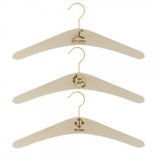 Kleiderbügel mit Haken (Gravurmaß 70x30 mm)