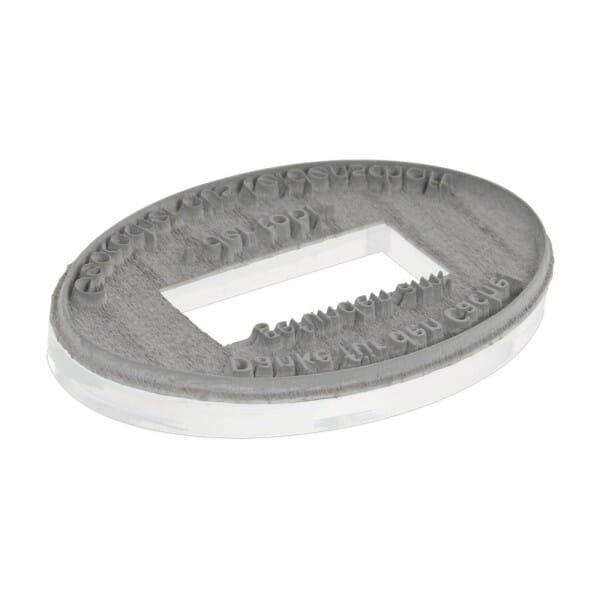 Textplatte für Colop Printer oval 55 Dater (55x35 mm - 5 Zeilen)