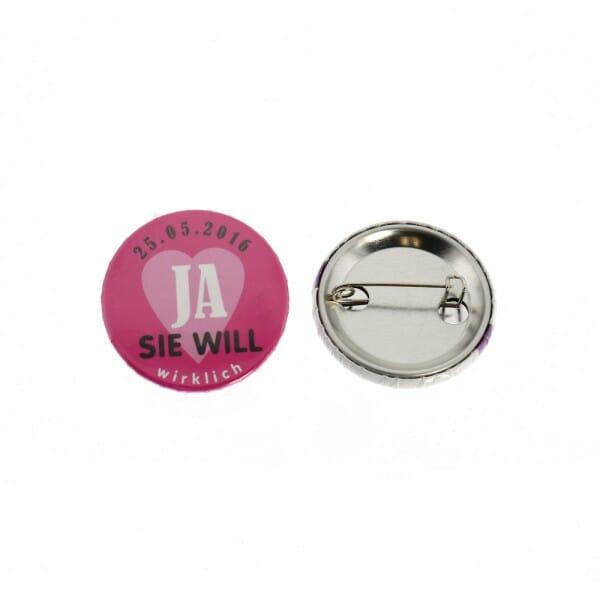 Buttons mit eigenem Motiv und Anstecknadel (ø 37 mm rund - 10 Stück)