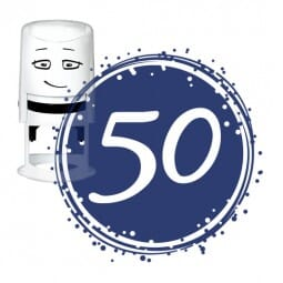 NIO Stempelmotiv - birthday 50-badge