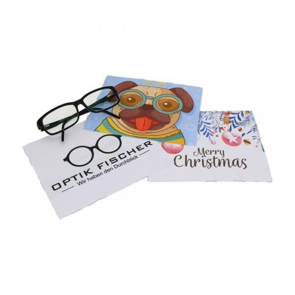 Glasreinigungstuch/Brillenputztuch individuell bedruckt (15x18 cm)