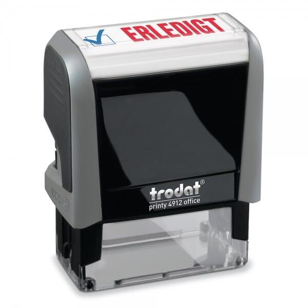 "Trodat Office Printy Textstempel ""Erledigt"" 4912 (47x18 mm)"