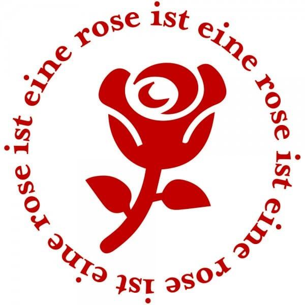 Liebe Holzstempel - Rose (Ø 40 mm)