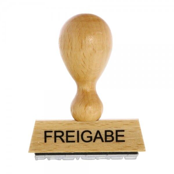 Holzstempel FREIGABE (50x10 mm - 1 Zeile) bei Stempel-Fabrik