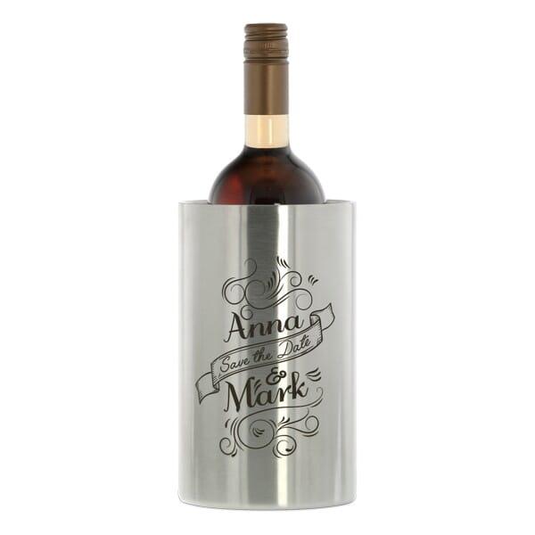 Weinkühler aus Edelstahl (Gravurmaß 130x100 mm)