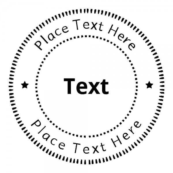 Monogrammstempel rund - Gepunktete Kreise