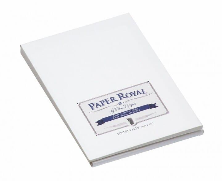 Kartenmappe weiß / blau (8 Karten - 8 Briefumschläge) bei Stempel-Fabrik
