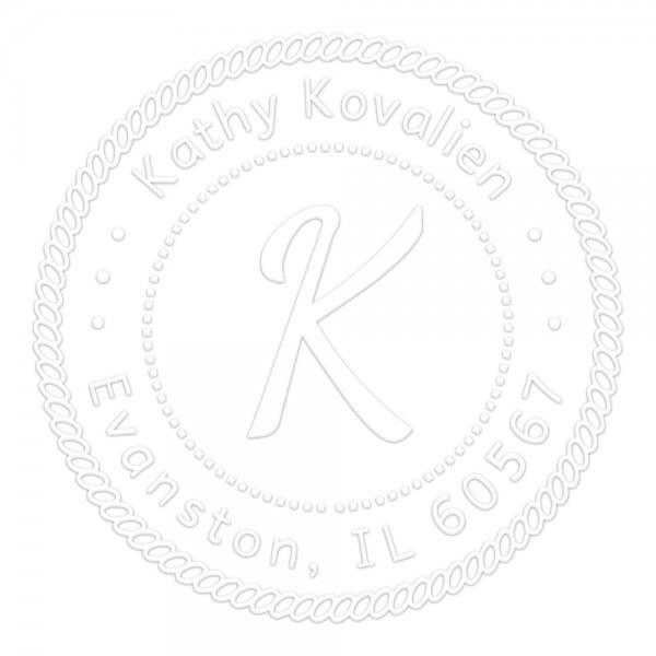 Monogramm-Prägezange 51 mm rund - Maritime Dekoration