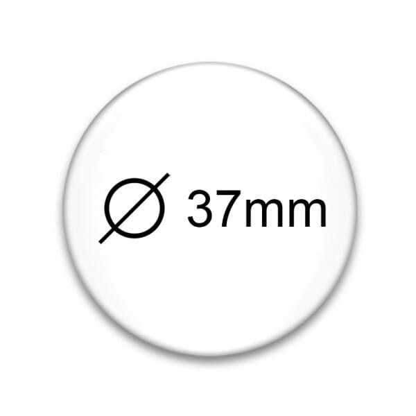buttons mit eigenem motiv und anstecknadel 37 mm stempel. Black Bedroom Furniture Sets. Home Design Ideas