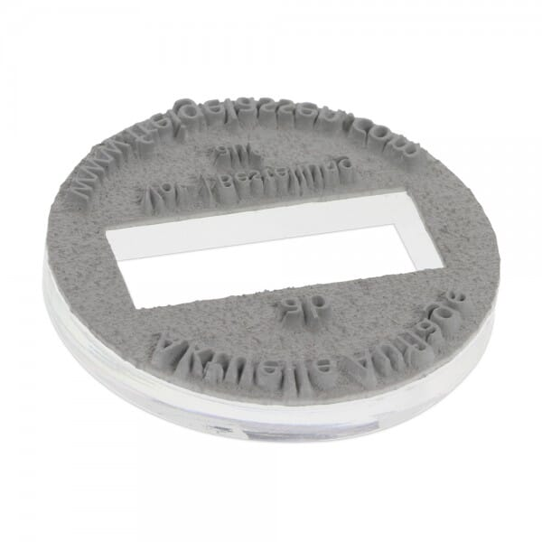 Textplatte für Colop Printer R 24 Dater (Ø 24 mm - 2 Zeilen) bei Stempel-Fabrik