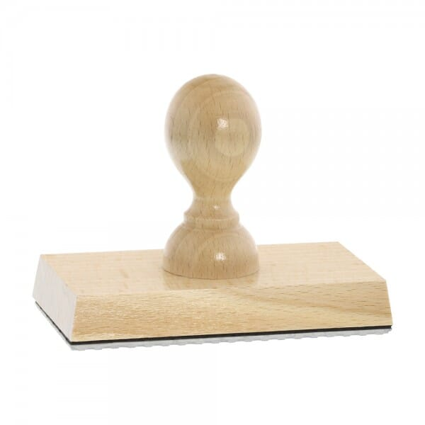 Holzstempel (110x60 mm - 12 Zeilen)