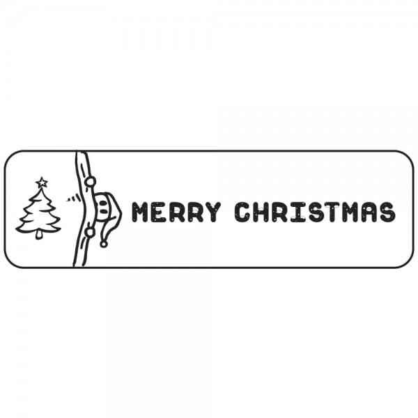 Weihnachten Holzstempel - Weihnachtsbaum (70x20 mm)
