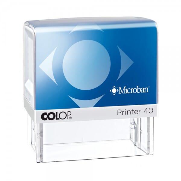 Colop Printer 40 Microban (59x23 mm - 6 Zeilen)