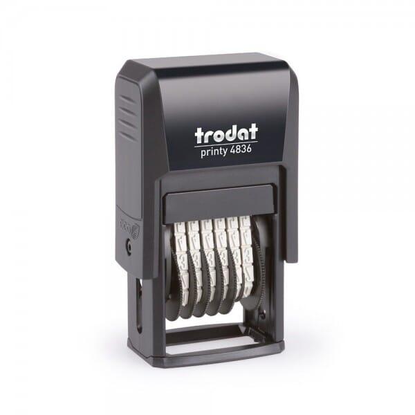 Trodat Printy 4836 Ziffernbandstempel (SH 3,8 mm - 6 Stellen)