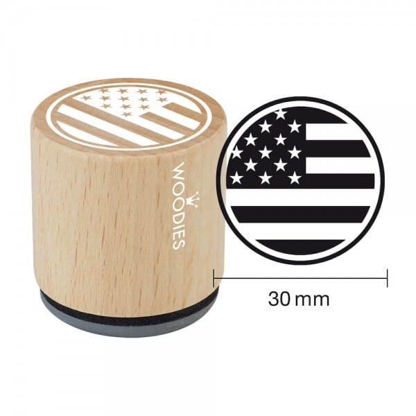 Woodies Stempel - Stars and stripes bei Stempel-Fabrik