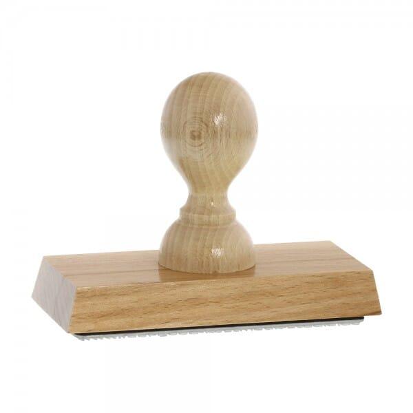 Holzstempel (110x50 mm - 10 Zeilen)