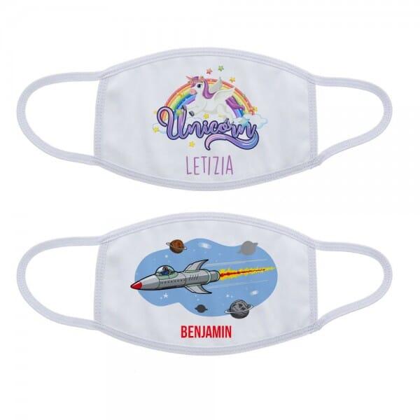 Mund-Nasen Maske / Gesichtsmaske für Kinder in zwei Größen (wiederverwendbar)