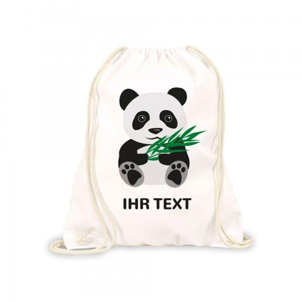 "Turnbeutel-Rucksack ""Panda"" inkl. individueller Druck"
