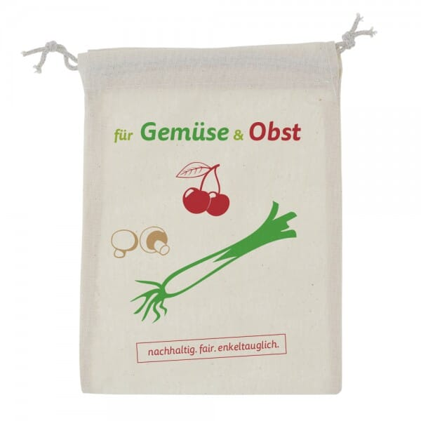 Baumwoll-Zuziehbeutel-Stoffbeutel für Obst & Gemüse