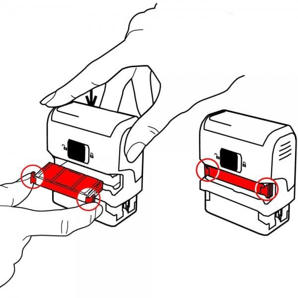 Trodat Printy 4912 Gutschein u. Geschenkverpackung (47x18 mm - 5 Zeilen)