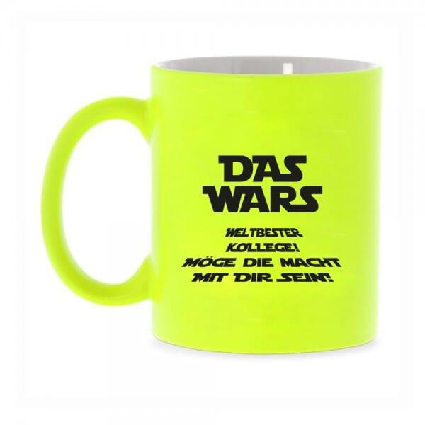 """Keramiktasse Neon Bester Kollege """"Das wars"""""""