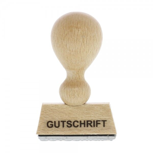 Holzstempel GUTSCHRIFT (40x10 mm - 1 Zeile)