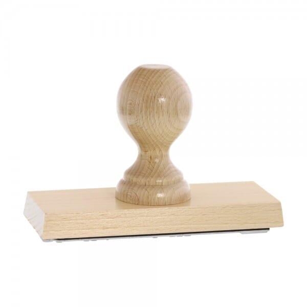 Holzstempel (150x60 mm - 12 Zeilen)