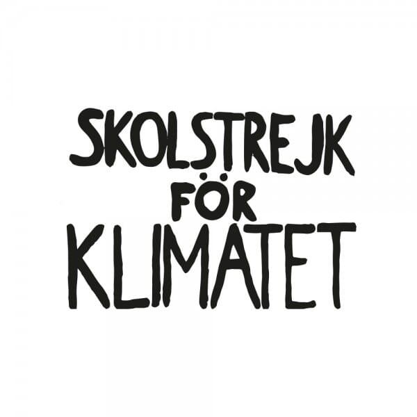 Fridays for Future - Skolstrejk för Klimatet (60x40mm)