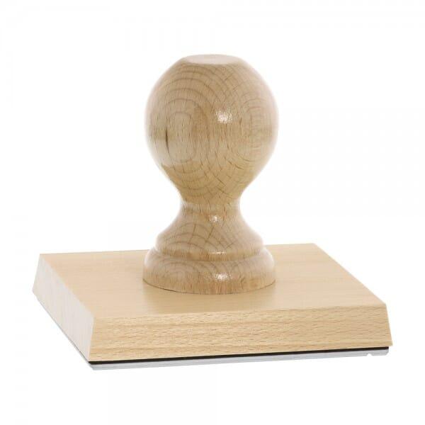 Holzstempel (110x100 mm - 20 Zeilen)