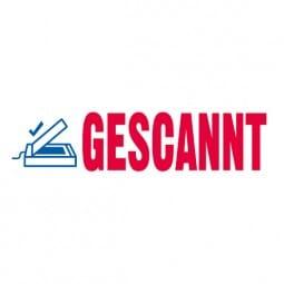 "Trodat Office Printy Textstempel ""Gescannt"" 4912 (47x18 mm)"