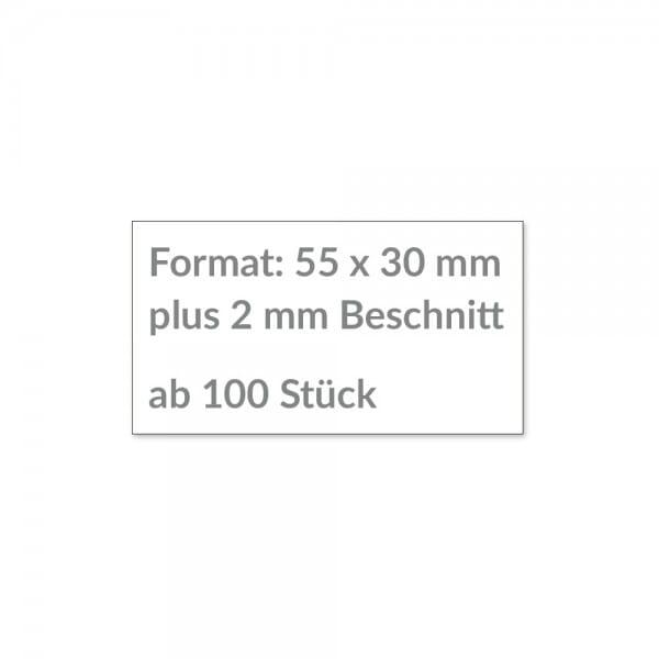 Individuelle Sticker 55x30 mm / CMYK Lösemittel Digitaldruck