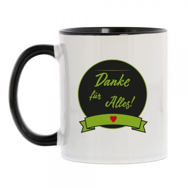 """Keramiktasse """"Danke für Alles"""""""