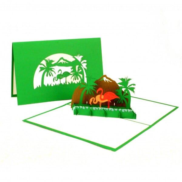 Colognecards Pop-Up Karte Flamingos
