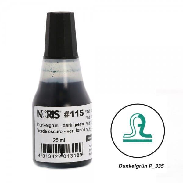 NORIS Stempelfarbe Dunkelgrün Pantone 335 bei Stempel-Fabrik