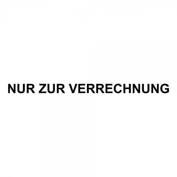 Holzstempel NUR ZUR VERRECHNUNG (60x10 mm - 1 Zeile)