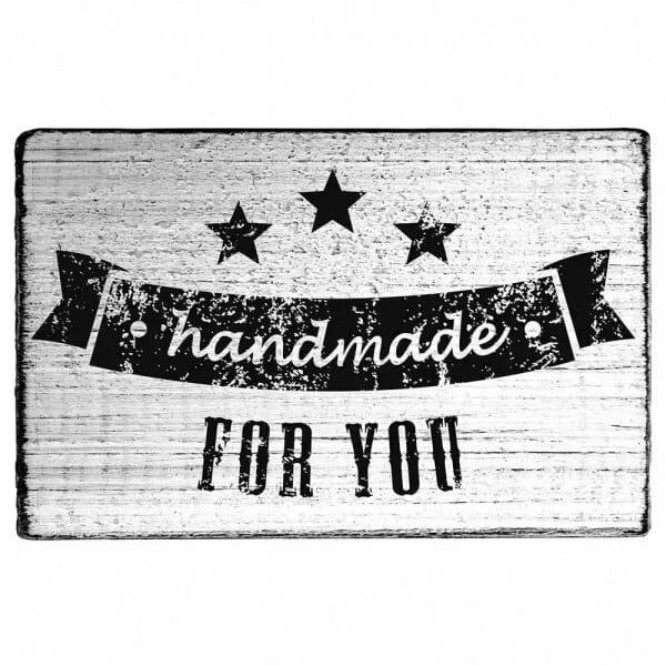 "Vintage Stempel ""Handmade for you"""