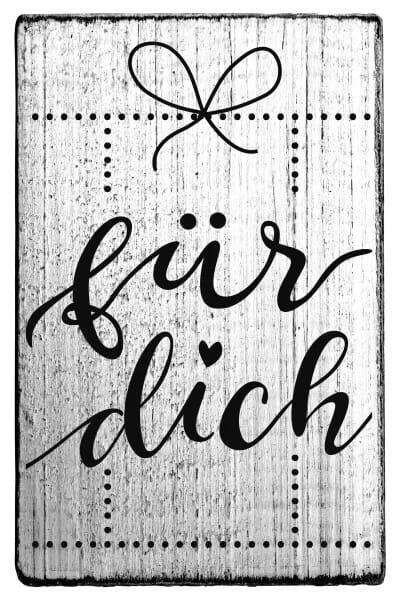 """Vintage Stempel """"Für Dich"""""""