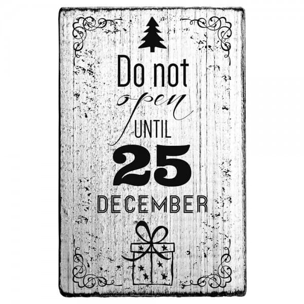 "Vintage Stempel ""Do not open until 25"""