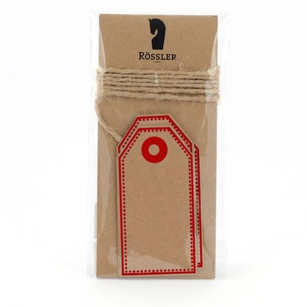 Geschenkanhänger Kraftpapier rot (4 Stück)