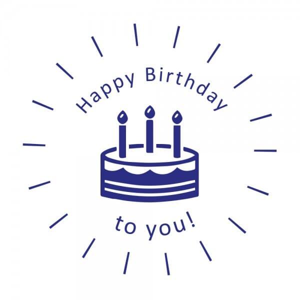 Feierlichkeiten Holzstempel - Happy Birthday to you (Ø 40 mm)