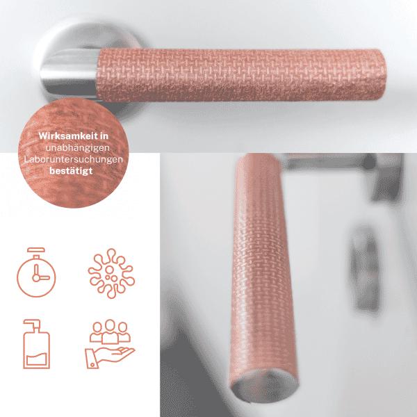 Shieldex® Kupfer-Tape - Schutz für Türgriffe und Griffflächen vor Viren