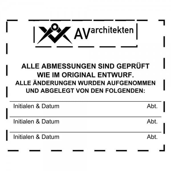 Holzstempel (60x50 mm - 9 Zeilen)